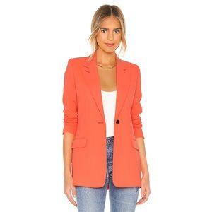 NWT Smythe Wool Neon Tangerine Tailored Blazer